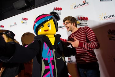 WINTER HAVEN, FL -- January 28, 2016 -- AN AWESOME WORLD PREMIERE ñ Celebrities including Jack Griffo gathered Jan. 28 at LEGOLANDÆ Florida Resort in Winter Haven, Fla., for the world premiere of ìThe LEGOÆ Movieô 4D A New Adventure.î A Hollywood-style gala built for kids celebrated the eagerly awaited debut of the brand-new attraction, which combines 3D computer animation, ì4Dî effects such as wind, water and fog, and the same sly humor that made the movie a worldwide blockbuster. The 12 Ω-minute film opened to guests Jan. 29 and plays multiple times per day in the Florida theme parkís Wells Fargo Fun Town Theater. THE LEGOÆ MOVIE © & ô LEGO Group & Warner Bros. Entertainment Inc. All Rights Reserved. (s16). LEGO, the LEGO logo, the Minifigure, the Brick and Knob configuration and LEGOLAND are trademarks of The LEGO Group. © 2016 The LEGO Group. Used with permission. All rights reserved. (PHOTO / Chip Litherland Photography for LEGOLAND Florida Resort)